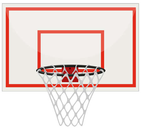 Basketball hoop with net illustration