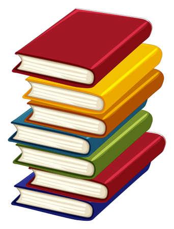 notebook: Stack of many books illustration