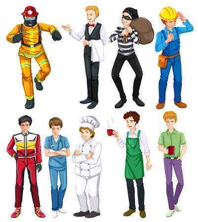occupations: People doing different occupations illustration