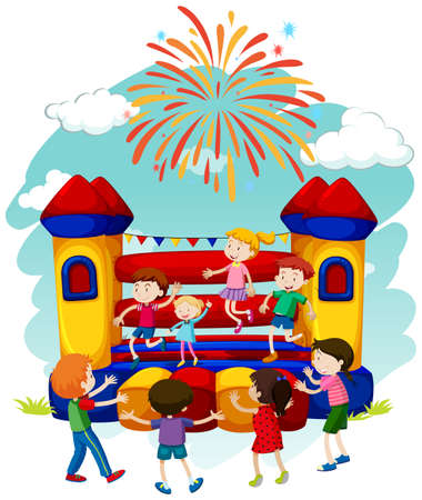 137 Bouncing Castle Stock Illustrations, Cliparts And Royalty Free ...
