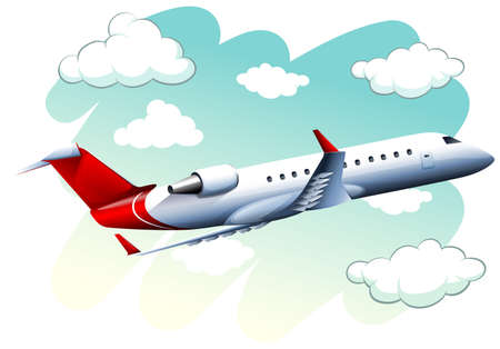 daytime: Airplane flying in the sky at daytime illustration