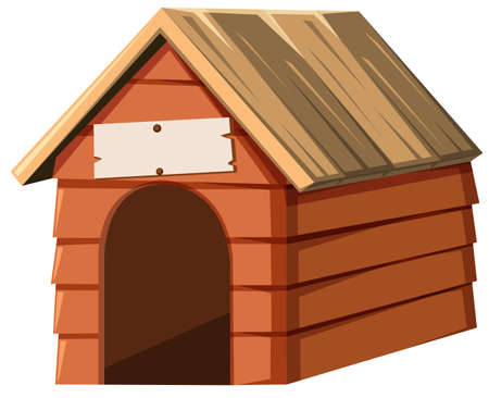 nametag: Doghouse made of wood illustration