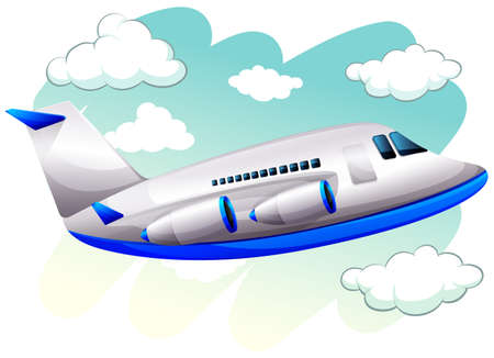 engine: Airplane flying in the sky illustration