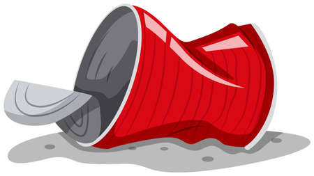 Used can on the ground illustration Illustration