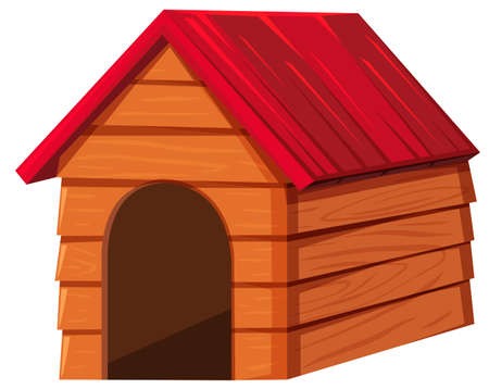 doghouse: Doghouse with red roof illustration