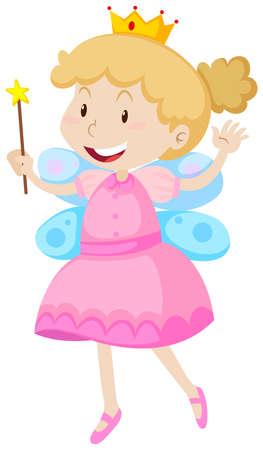 Little girl in fairy costume illustration