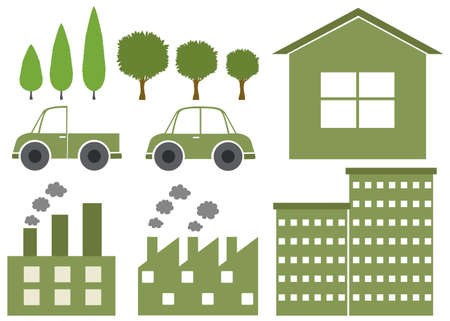 design with environmental theme illustration Illustration