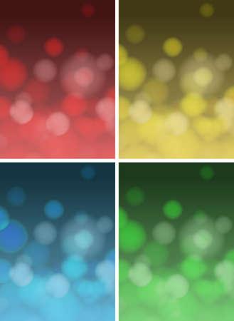 light circular: Background design in four colors illustration
