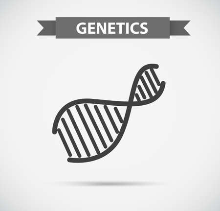 Icon design with genetics symbol illustration