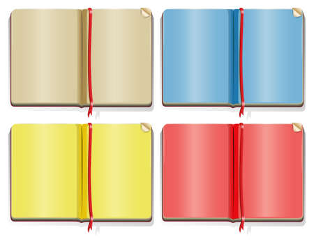 color pages: Four different color pages in the books illustration