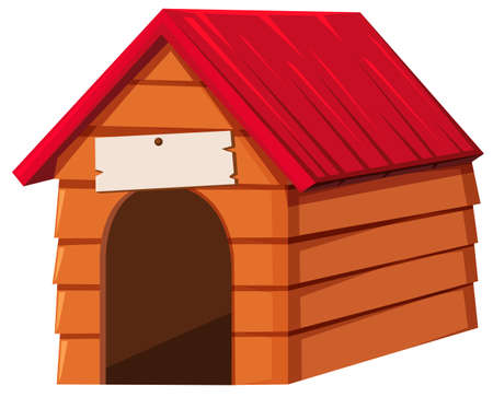 doghouse: Doghouse made of wood illustration