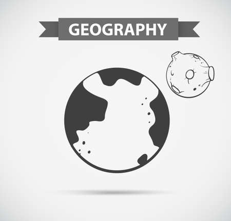 geography: Symbol design for geography illustration