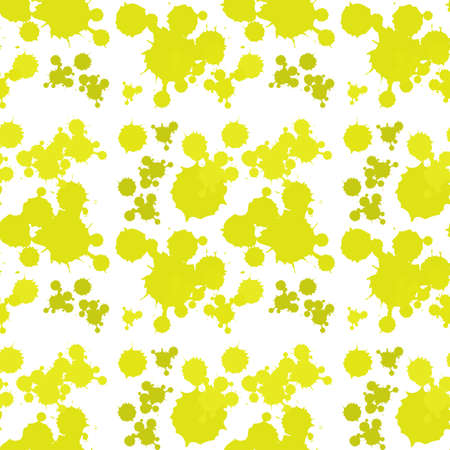 abstract seamless: Seamless background design with yellow splash illustration Illustration