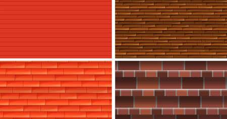 backgrounds texture: Four different texture backgrounds illustration Illustration