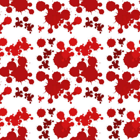 Seamless background design with red splash illustration