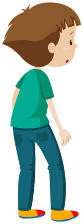 Espalda, hombre, posición, Ilustración