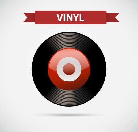 Entertainment icon for vinyl illustration