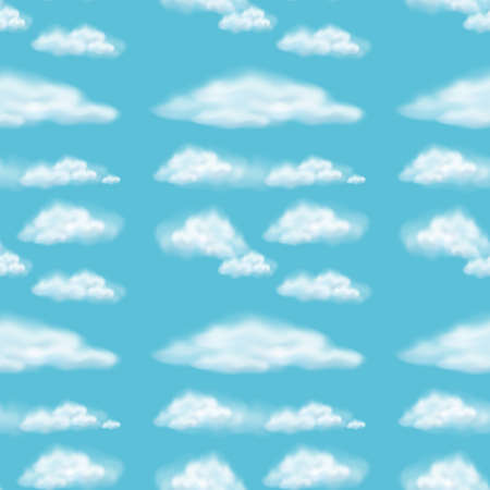 fluffy clouds: Seamless background design with fluffy clouds illustration