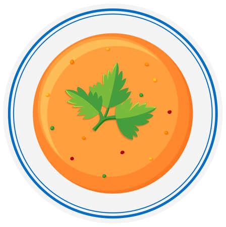bowls: Hot soup in bowl illustration Illustration