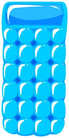 square image: Floating raft in blue color illustration