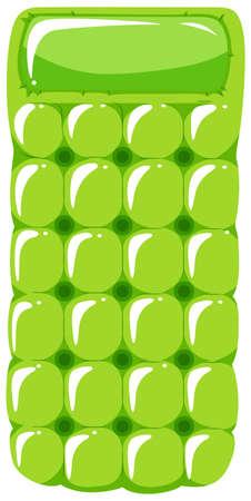 Floating raft in green color illustration