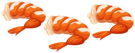 shrimp cocktail: Shrimp cocktails on white background illustration Illustration