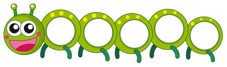 Caterpillar with happy face illustration