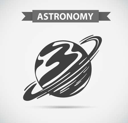 stars: Astronomy on grey background illustration