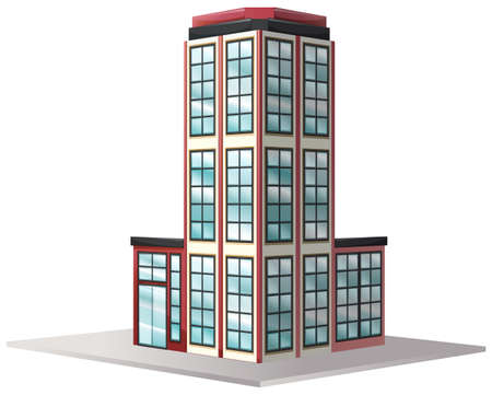 office windows: Architecture design for office building with many windows illustration