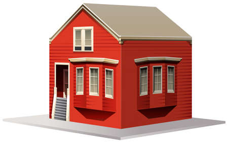 Building design for small house illustration