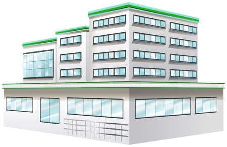 element: Building design for hospital illustration Illustration