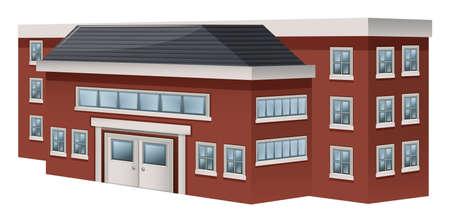 Building design for school illustration