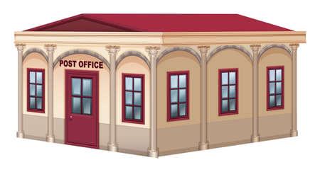 view: 3D design for post office illustration