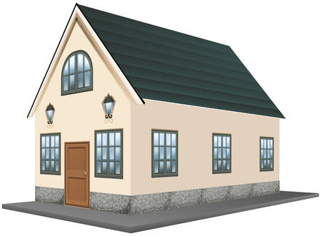 white background: Architecture design for single house illustration