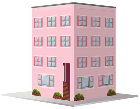 element: 3D design for apartment building illustration
