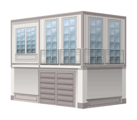building: Building design for office illustration Illustration