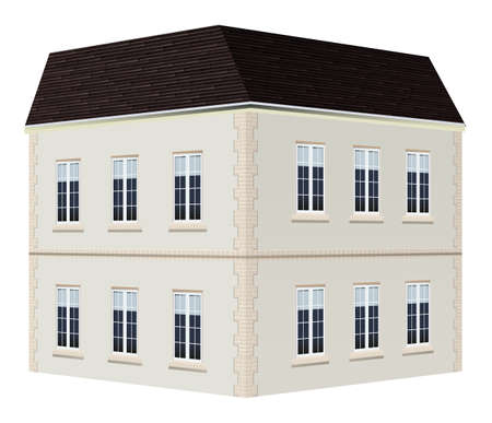 two storey: Architecture design for two storey house illustration Illustration