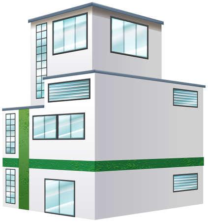 design elements: Architecture design for apartment building illustration