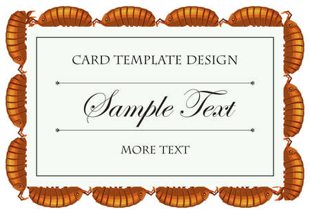 lice: Card template with lice illustration