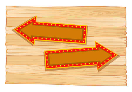 plywood: Arrows going left and right illustration