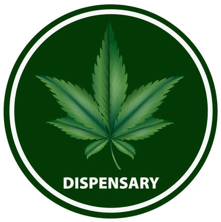 Icon design for dispensary illustration