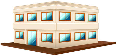 two storey: Architecture design for two storey building illustration Illustration