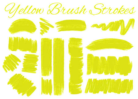 pattern: Yellow brush strokes on white background illustration