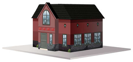 house building: Building design for house illustration