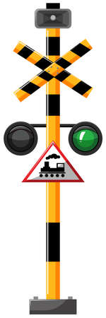 traffic pole: Traffic lights for train illustration