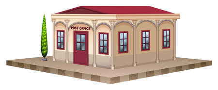 post office building: Post office in 3D design illustration Illustration