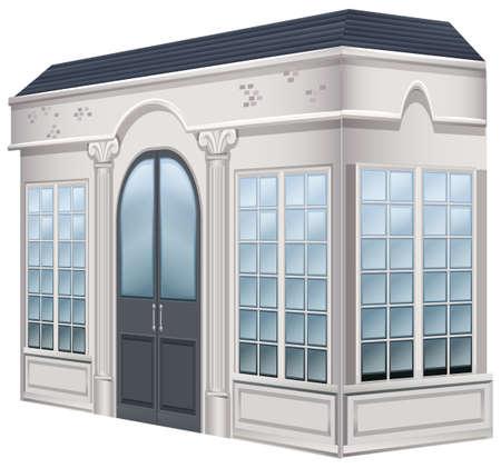 art museum: Museum building with big doors illustration