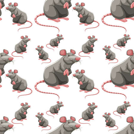 tropical: Seamless background with gray mouses illustration