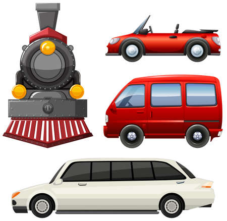 engine: Different types of vehicles illustration