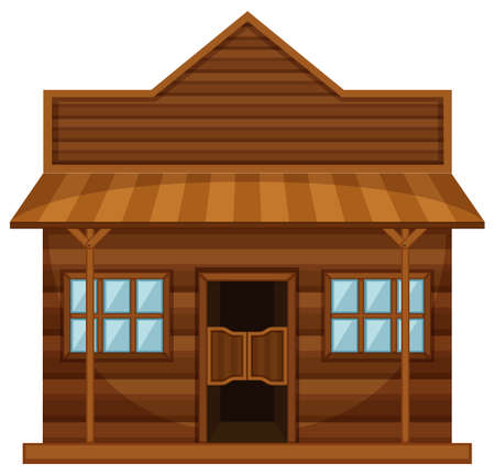 Western style of shop  illustration Illustration